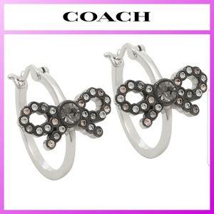 COACH Bow Hoop Earrings